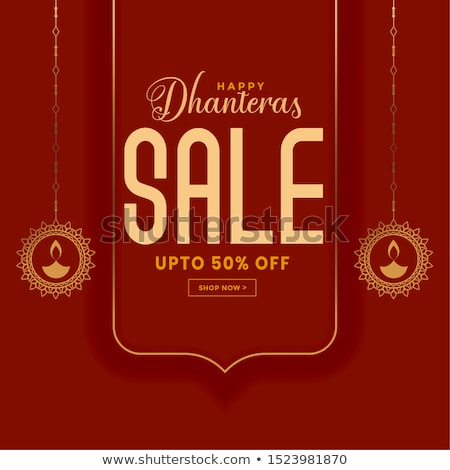 happy dhanteras sale banner with offer details Stock photo © SArts