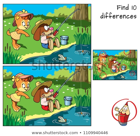 Spot the difference fishing Stock photo © Olena