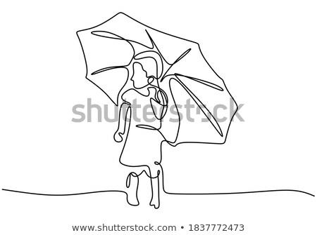 Rainy weather theme background 1 Stock photo © clairev
