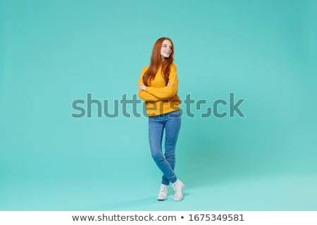 Portret jonge vrouw haren dromerig Stockfoto © diego_cervo