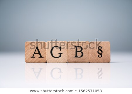 AGB Letters Standing For Standard Form Contract In Germany Stock photo © AndreyPopov