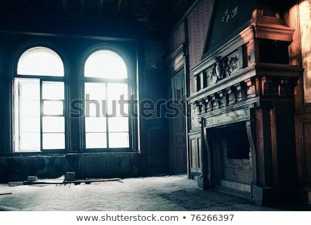Sunlight door window in dark room Stock photo © nomadsoul1