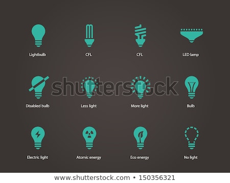 Energy Efficiency Fluorescent Lamp Cfl Vector Stock photo © pikepicture