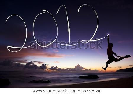 pozitív · 2012 · üzlet · növekedés · üzenet · remény - stock fotó © paviem