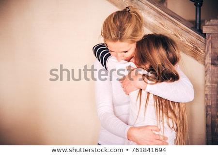 Moeder dochter armen strak bruiloft natuur Stockfoto © ElenaBatkova