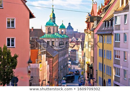 Nurnberg. Colorful street architecture on Nuremberg Burgstrasse  Stock photo © xbrchx