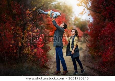 ребенка девушки общественного парка деревья любимый Сток-фото © ElenaBatkova