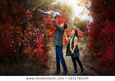 çocuk kız kamu park ağaçlar favori Stok fotoğraf © ElenaBatkova