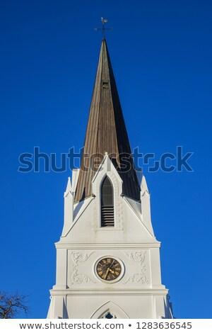 Gothique église ciel bleu Prague bâtiment Photo stock © cienpies