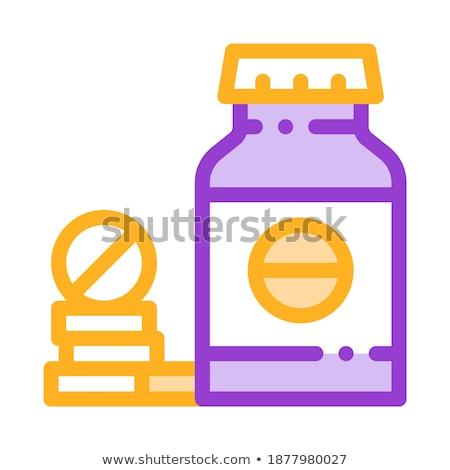 Bio drogas garrafa vetor fino Foto stock © pikepicture