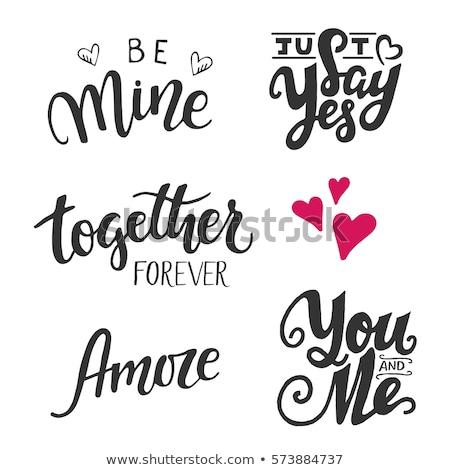 Set of wedding typography quotes. Vector creative sayings Stock photo © Zsuskaa