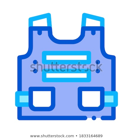Police Body Safe Armor Icon Outline Illustration Stock photo © pikepicture