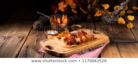 サツマイモ フライドポテト 辛い パプリカ 背景 夏 ストックフォト © Dar1930