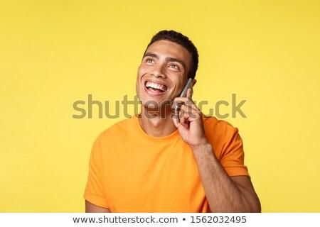 Rozmowy nowoczesne ludzi atrakcyjny przyjazny młody człowiek Zdjęcia stock © benzoix