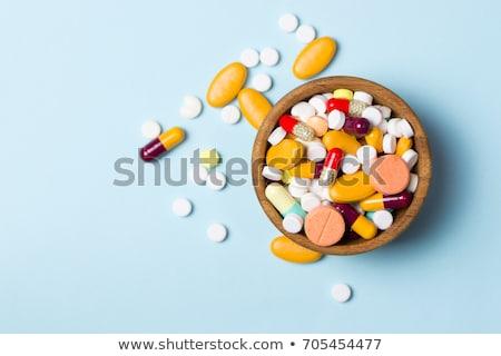 Farmaceutyczny muzyka pigułki grupy nauki opieki Zdjęcia stock © grafvision