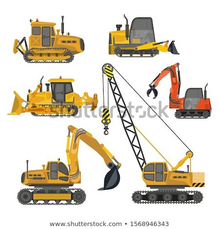 Construção equipamento trator escavadora cidade maquinaria Foto stock © robuart