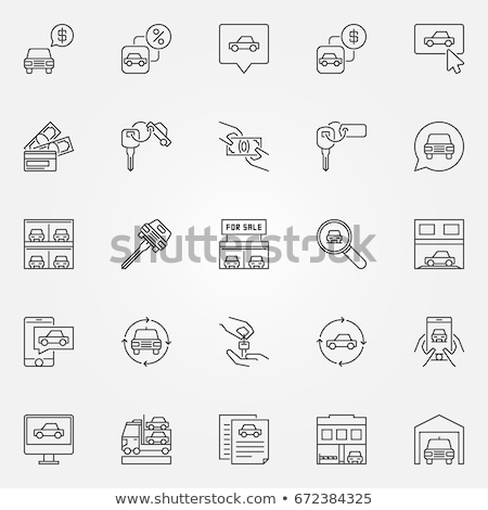 car purchase agreement icon vector outline illustration Stock photo © pikepicture