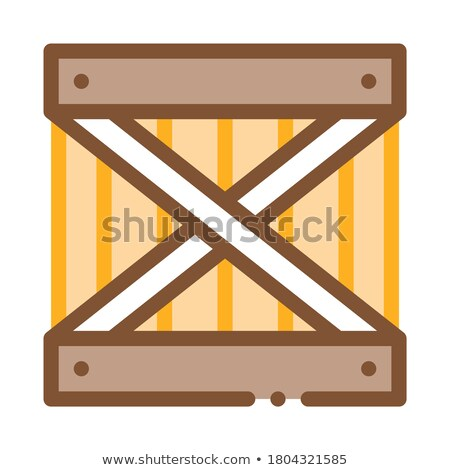 wood ban icon vector outline illustration Stock photo © pikepicture