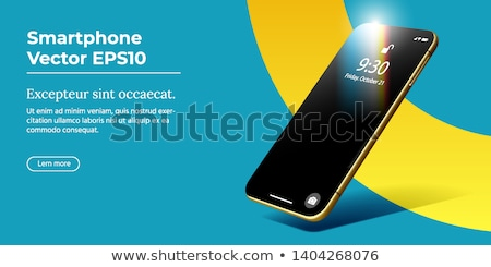 Presentation Of Mobile Application On Phone Vector Foto stock © Tashatuvango