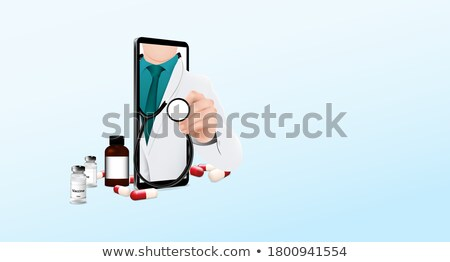 Medical Service form Doctor Discussing Vector Stock photo © robuart