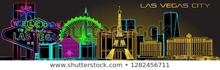 Las Vegas panoramę niebieski budynków kopia przestrzeń Zdjęcia stock © ShustrikS