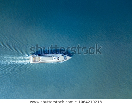 aerial ferry in the sea on a sunny day blue water Stock photo © galitskaya
