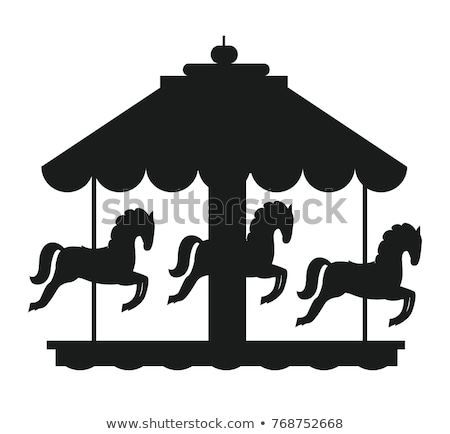 children carousel icon vector outline illustration Stock photo © pikepicture