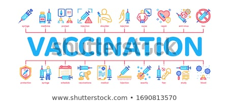 Vaccination Syringe Minimal Infographic Banner Vector Stock photo © pikepicture