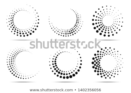 Halftone dotted dots circle background. Vector round effect Stock photo © Andrei_