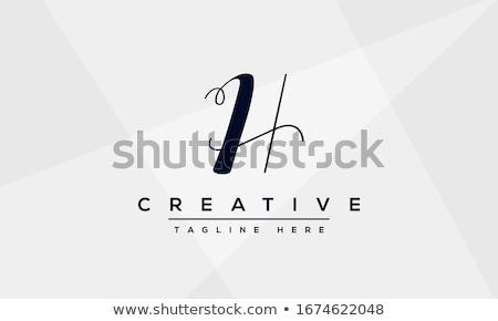 рисованной монограмма шаблон простой дизайн шаблона Сток-фото © ShustrikS