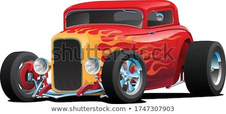 Classico rosso strada asta auto Foto d'archivio © jeff_hobrath