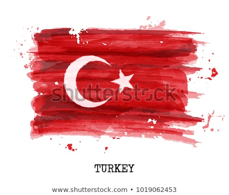Türkiye bayrak beyaz dalga bant Avrupa Stok fotoğraf © butenkow