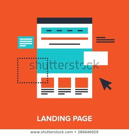 Fluxo de trabalho aterrissagem página organização gestão Foto stock © RAStudio
