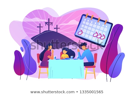 Christian event abstract concept vector illustration. Stock photo © RAStudio