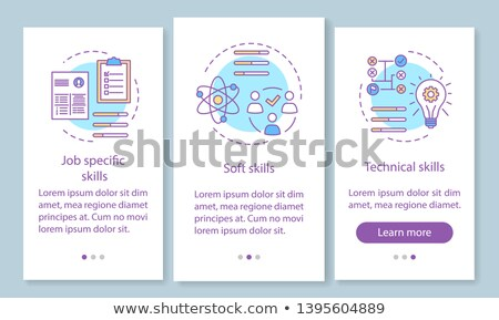 Job specification app interface template. Stock photo © RAStudio