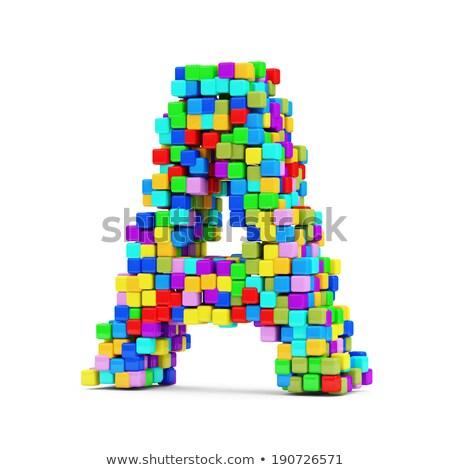 cartas · color · cubos · 3D · colorido · ninos - foto stock © marinini