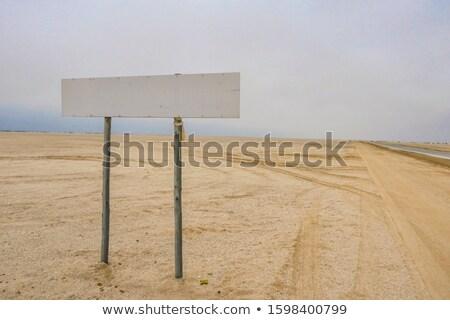 Namibië wegteken groene wolk straat teken Stockfoto © kbuntu