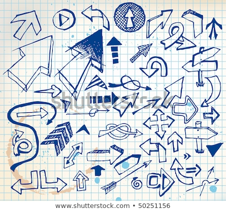 big set of various doodle arrows stock photo © orson