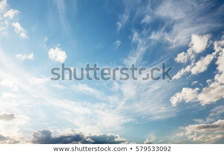 Repülőgép felhős égbolt repülőgép repülés magas Stock fotó © Harveysart