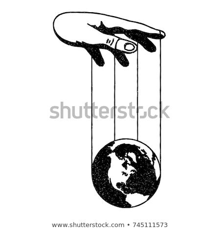 Dünya kukla el kader dünya Stok fotoğraf © jordygraph