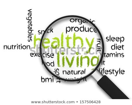 商业照片: 放大镜 · 健康生活 · 苹果 ·话·白