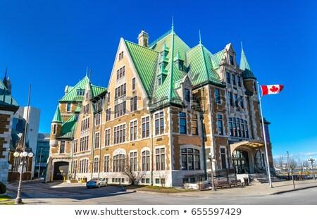 Quebec City Railway Station and flag Stock photo © aladin66