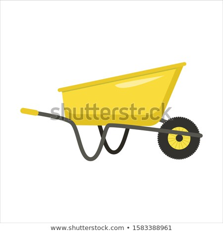 Yellow wheelbarrow Stock photo © Hermione
