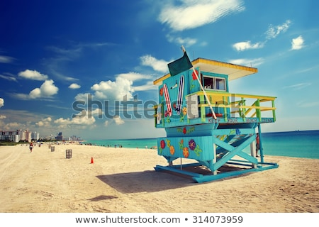 Солнечный · Майами · пляж · синий · ярко · белый - Сток-фото © mtilghma