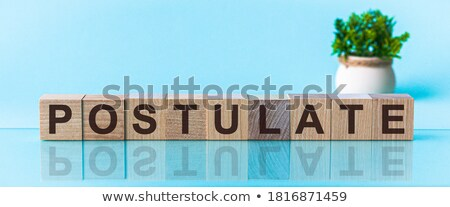 Oud boek brief blokken theorie geïsoleerd witte Stockfoto © pinkblue
