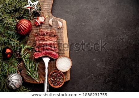Jantar ver bom fresco salada Foto stock © ersler