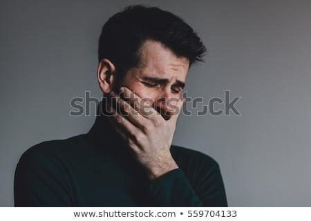 Adam ağlayan dışarı hüsran eller arka plan Stok fotoğraf © photography33