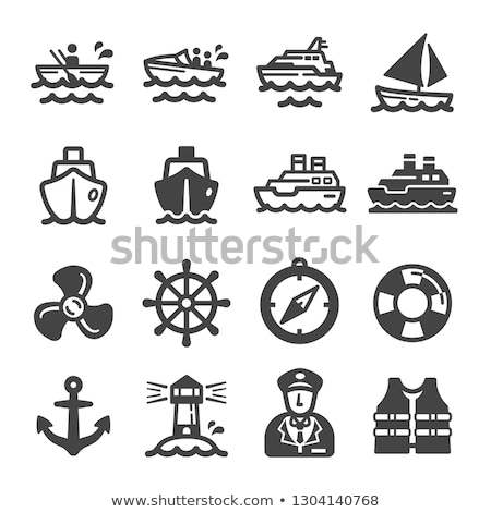 Marine icons. Stock photo © timurock