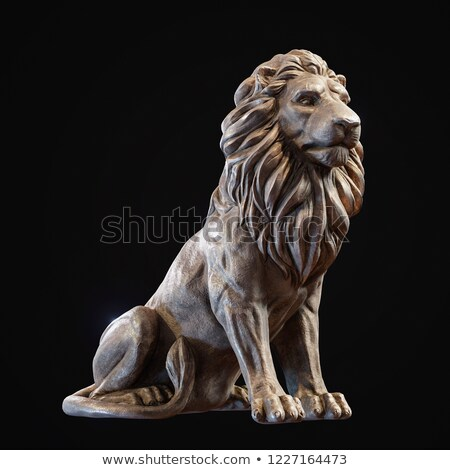 Rzeźba lew antyczne miasta świątyni ściany Zdjęcia stock © Anna_Om