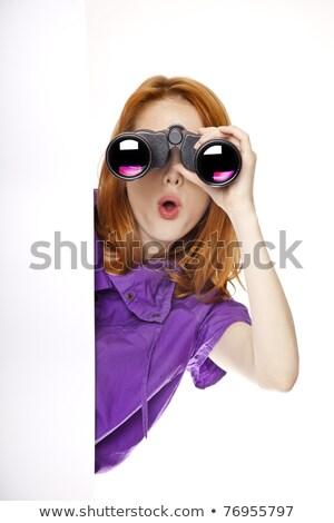 Teen redhead girl with binoculars  stock photo © Massonforstock